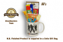 Ghostbusters Team Mug with/without a spooky selection of 80's retro sweets.